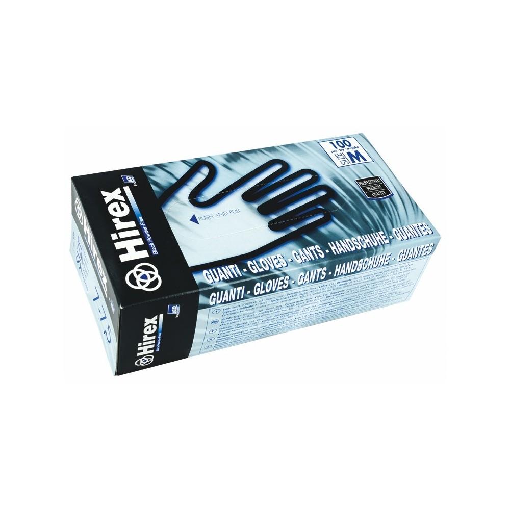 guanti neri in lattice S alta qualità