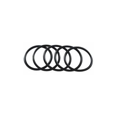 Elastici neri in silicone antistrappo conf 5 pz